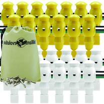 26 Yellow and White Robotic Foosball Men with Free Screws