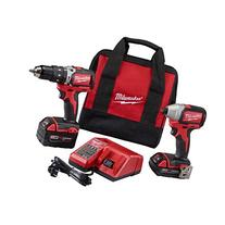 Milwaukee 2799-22CX M18 Cmpt Brushless Hammer Drill Impact