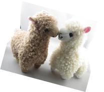 2pcs Cute Alpaca Plush Toy Camel Cream Llama Stuffed Animal