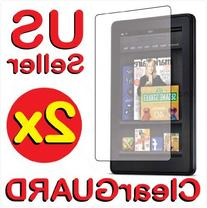 2x Amazon Kindle Fire Premium Invisible Clear LCD Screen