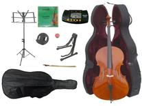 Merano 3/4 Size Cello with Hard Case, Bag and Bow+2 Sets of