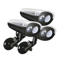3-PACK LED Solar Powered Outdoor Security Light with PIR