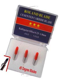 3-Pack Roland Type Replacement Cemented Carbide Blade Set 45