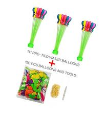 Kemuse 3 Bunches of 111 Self Tie Water Balloons with Refill