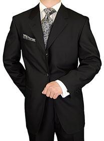 Gino Valentino Men's 3 Button Jacket Flat Front Pants 2