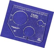 """3 Circles Template for 1/4"""" Foot - Clear with Ruler 1/4"""""""