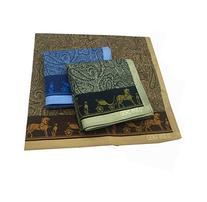 By Tech Pk 3 100% Cotton High Quality Jacquard Handkerchief