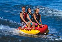 AIRHEAD HD-3 Hot Dog Triple Rider Towable Inflatable 3-