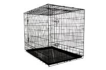 Allmax 3-Door Folding Metal Dog Crate with Steel Tray, Large
