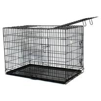 BestPet 3-Door Pet Folding Cage Dog Crate Kennel with ABS