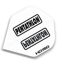 3 Sets of Standard Size Pentathlon HD150 Dart Flights White