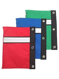 Large 3-Ring Binder Pen Pouch with Soft Vinyl Binding for