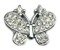 """3/8"""" Slider Butterfly Charm Clear 3/8"""