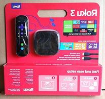Roku 3 Streaming Media Player  With Voice Search  Bundled