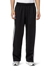 adidas Men's 3-Stripe Pant, Lead/Black, Large