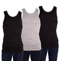 Knocker Men's 3 Tank Top Undershirts A-Shirt-Medium-2 Black