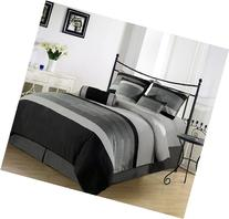 Chezmoi Collection 7-Pieces 3-Tone Embroidery Comforter Set/