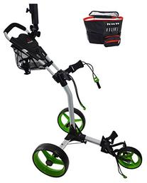 Paragon 3-wheelie Folding 3 Wheel Golf Cart / Free Cooler