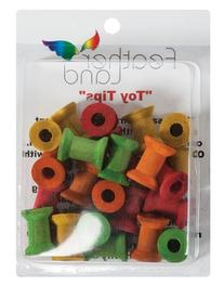 Paradise 3/4-Inch by 1-1/8-Inch wppd Spools Bird Toy