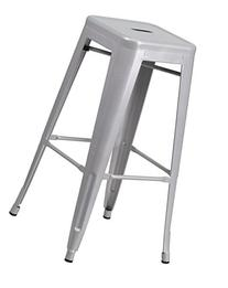 30'' High Backless Silver Metal Indoor-Outdoor Barstool with