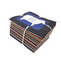 """30 5"""" Squares 100% Wool Felt Americana Colors Charm Pack"""