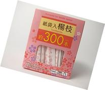 300 Individually Wrapped Wood Toothpicks/Flower paper bags
