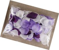 300pc Pack - Mixed Purple and White Artificial Rose Petals