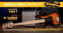 Squier by Fender P Bass Beginner Guitar Pack, Butterscotch