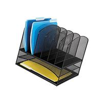 Safco Products 3255BL Onyx Mesh Desktop Organizer with 6