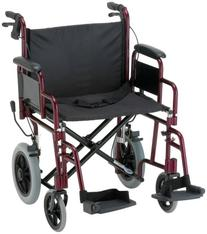 "NOVA Medical Products 22"" Heavy Duty Transport Wheelchair,"