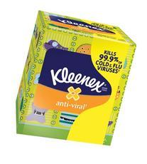Kimberly-Clark 35551 Kleenex Anti-Viral Facial Tissue with 3