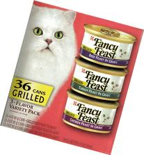 Fancy Feast 36 Cans 3-Flavor Variety Pack Cat Food: Beef