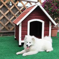 Petsfit 37.8 X 44.1 X 41.3 Inches Wood Dog House , Dog House