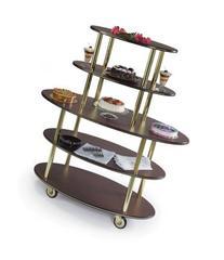 Geneva 37212 Rounded Oval Style- 5-Shelf Wood Laminate