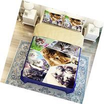 MeMoreCool 3D Creative Design Super Cute Pet Cat Bedding Set