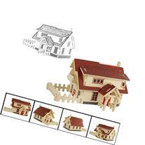 Eshock® 3D European house jigsaw puzzle toys,wooden adult