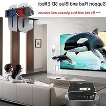 "Excelvan 260"" LCD LED Multimedia Projector 720P Native"