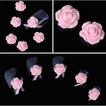 350buy 20pcs 3D Pink Little Rose Flower with Rhinestones