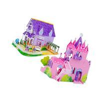 Melissa & Doug 3D Puzzle Bundle, Dollhouse and Palace