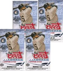 4  PACK LOT: 2013 Topps  Baseball Cards Factory Sealed Hobby