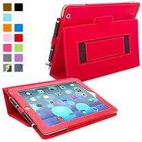 Snugg Leather Flip Stand Case for Apple iPad 3 and 4 - Red