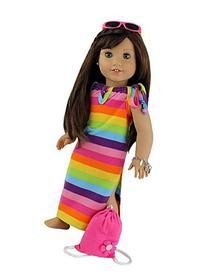 "4 Piece Beach Dress set Fits 18"" 18"" American Girl Doll"