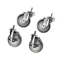 """4"""" Rack Casters - Non-marking Poly Wheel - 3/8"""" x 1"""""""