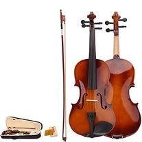 4/4 Full Size Natural Acoustic Violin Fiddle with Case Bow