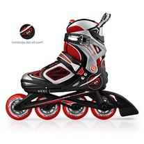 KUKOME 4 Size Adjustable Inline Skates for Boys Girls