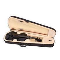 MicroMall New 4/4 Size Black Solid Wood Acoustic Violin with