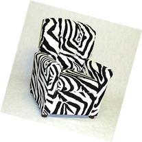Brazil Furniture 4 Button Back Child Recliner - Zebra