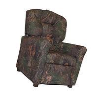 Brazil Furniture 4 Button Back Child Recliner - Mixed Pine