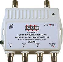 4 Port Cable TV/HDTV/Digital Amplifier Internet Modem Signal