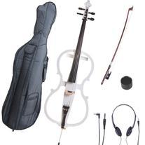 Cecilio 4/4 CECO-1WH Pearl White Electric Cello with Ebony